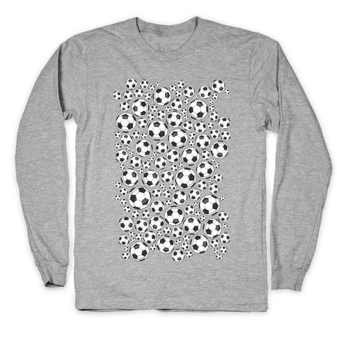 Soccer Balls Pattern Long Sleeve T-Shirt
