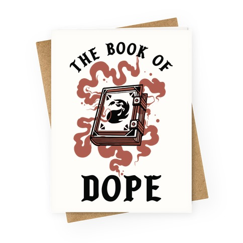 The Book Of Dope Red Magic Greeting Card