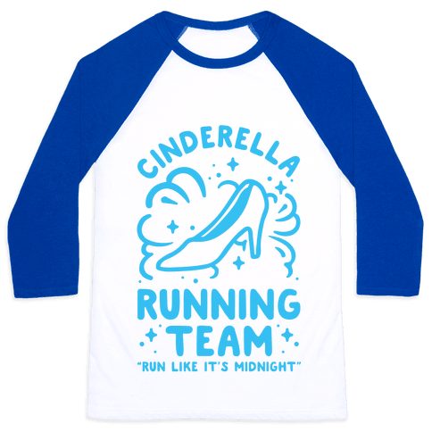 Cinderella Running Team Baseball Tee