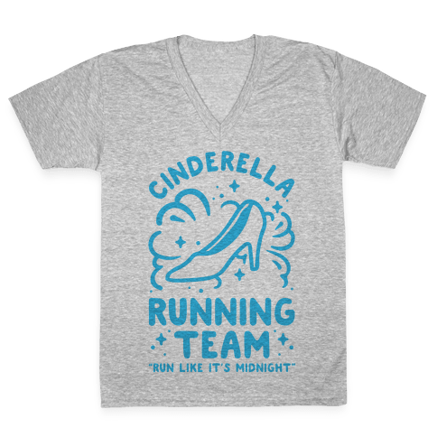 Cinderella Running Team V-Neck Tee Shirt