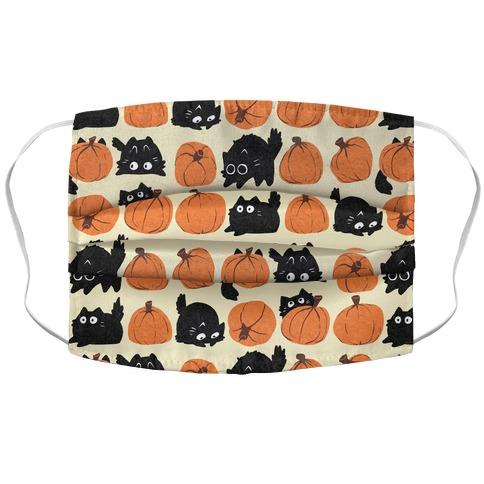 Pumpkin Cats Accordion Face Mask