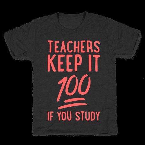 Teachers Keep It 100 (Red) Kids T-Shirt