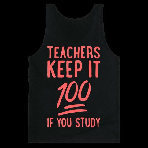 Teachers Keep It 100 (Red) Tank Top