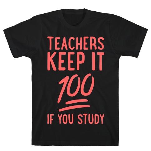 Teachers Keep It 100 (Red) T-Shirt