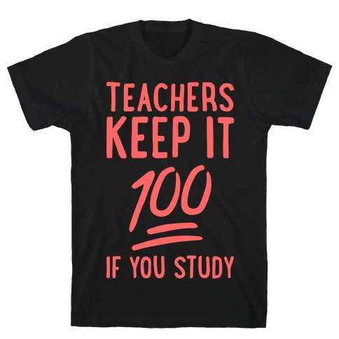 Teachers Keep It 100 (Red) Mens T-Shirt