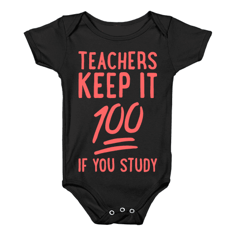 Teachers Keep It 100 (Red) Baby Onesy