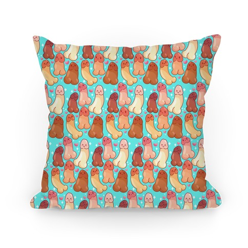 Kawaii Penises Pattern Pillow