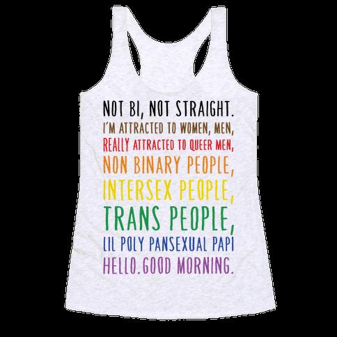 Kehlani Queer Identity Pride Quote Racerback Tank Top