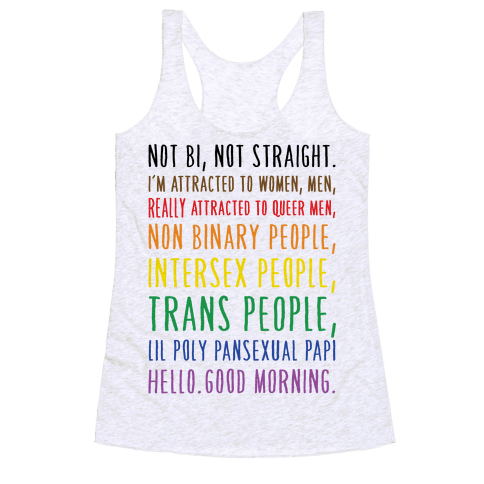 Kehlani Queer Identity Pride Quote Racerback Tank Top