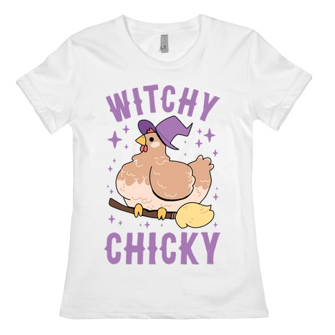 Witchy Chicky Womens T-Shirt