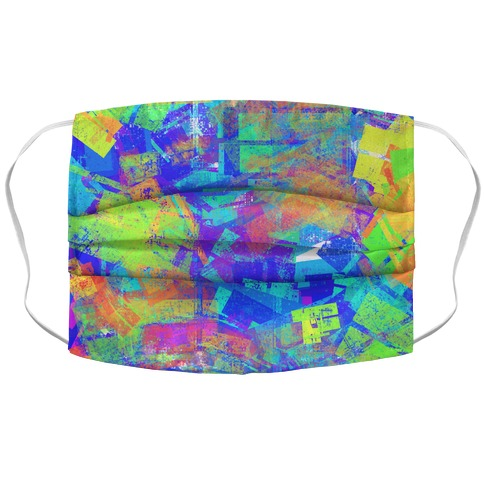 Abstract Psychedelic Accordion Face Mask