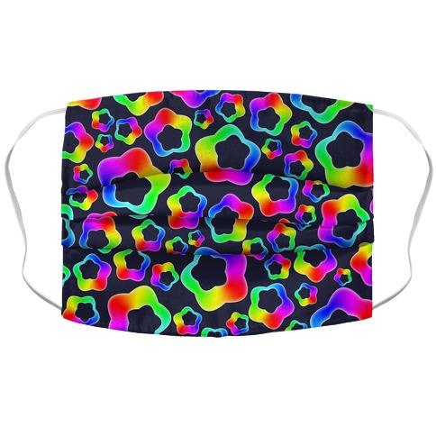 Squishy Rainbow Stars Accordion Face Mask