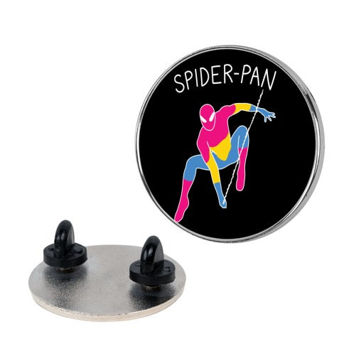 Spider-Pan Parody Pin
