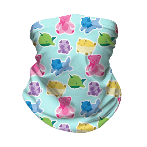 Pastel Plushie Pattern Neck Gaiter