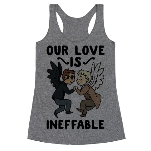 Our Love is Ineffable - Good Omens Racerback Tank Top