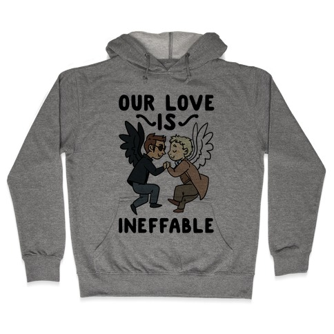 Our Love is Ineffable - Good Omens Hooded Sweatshirt