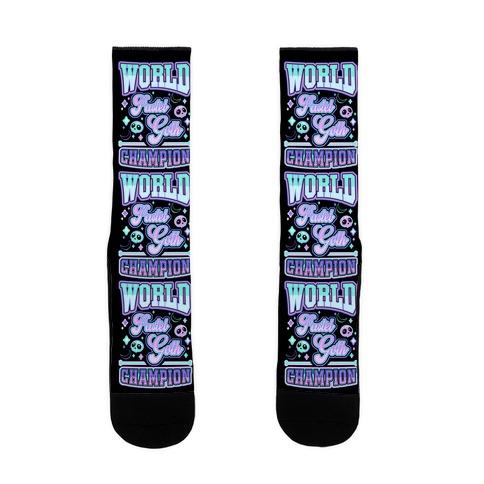 Pastel Goth World Champion Sock