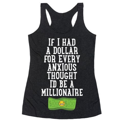Anxious Millionaire Racerback Tank Top