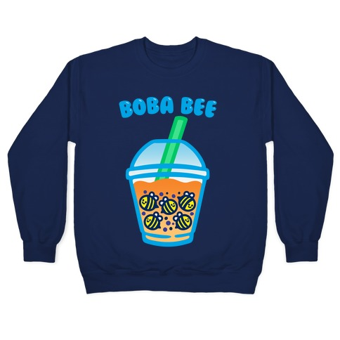 Boba Bee White Print Pullover