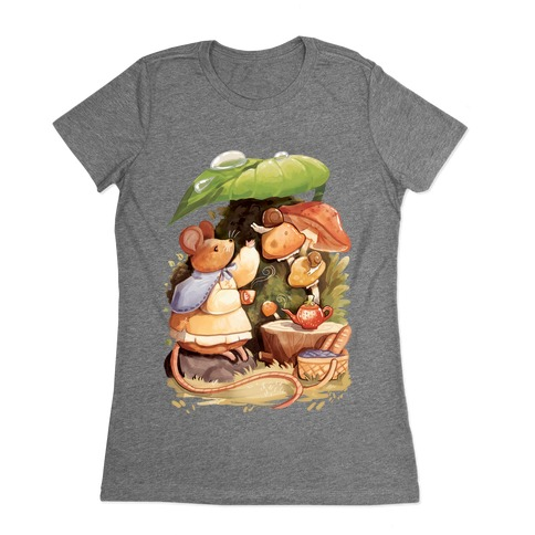 Mouse Tea Time Womens T-Shirt