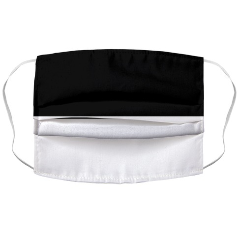 Horizontal Black and White Split Accordion Face Mask