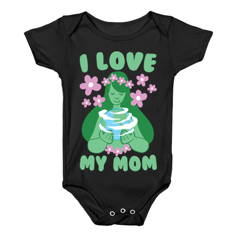 I Love My Mom Baby Onesy