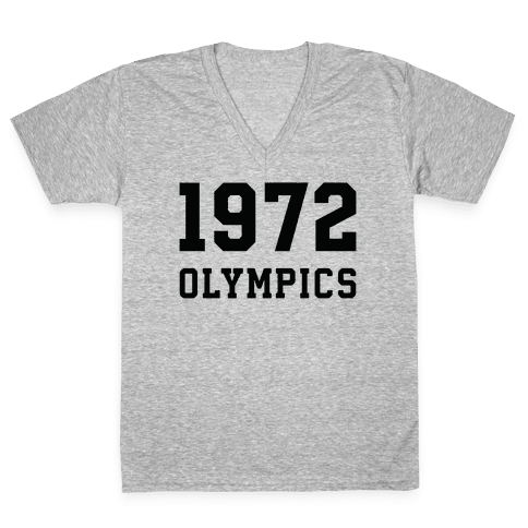 1972 Olympics V-Neck Tee Shirt