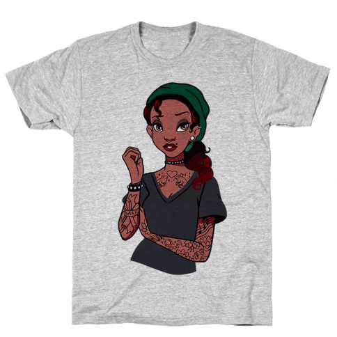 Punk Princess Tiana Parody Mens T-Shirt