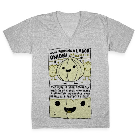 Labor Onion V-Neck Tee Shirt