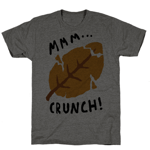 Mmm Crunch Fall Leaf Mens T-Shirt