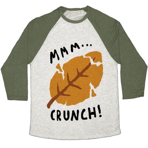 Mmm Crunch Fall Leaf Baseball Tee