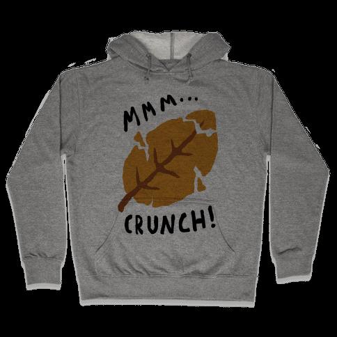 Mmm Crunch Fall Leaf Hooded Sweatshirt