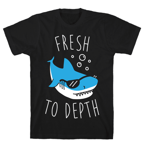 Fresh To Depth (White) Mens T-Shirt