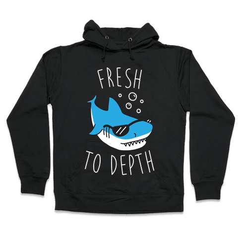 Fresh To Depth (White) Hooded Sweatshirt