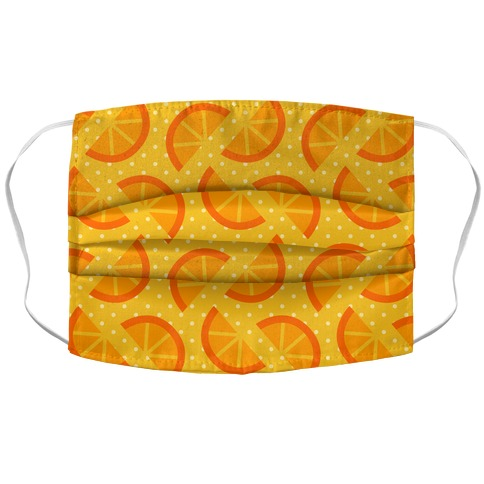 Orange Slices Pattern Accordion Face Mask