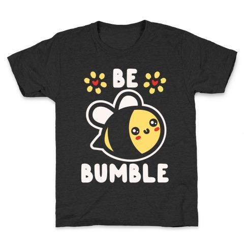 Be Bumble White Print Kids T-Shirt