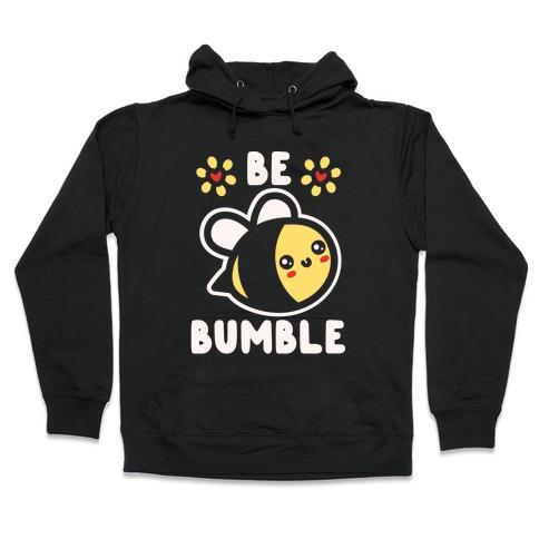 Be Bumble White Print Hooded Sweatshirt
