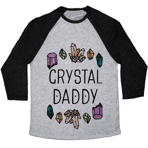 Crystal Daddy Baseball Tee