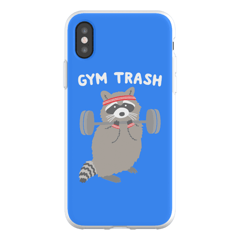 Gym Trash Raccoon Phone Flexi-Case