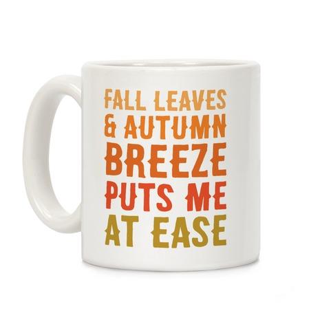 Fall Leaves and Autumn Breeze Coffee Mug