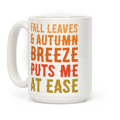 Fall Leaves and Autumn Breeze Coffee Mug