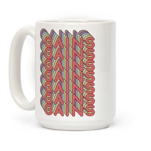 Gains Retro Rainbow Coffee Mug