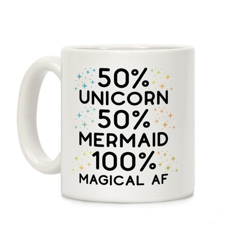 50% Unicorn 50% Mermaid Coffee Mug