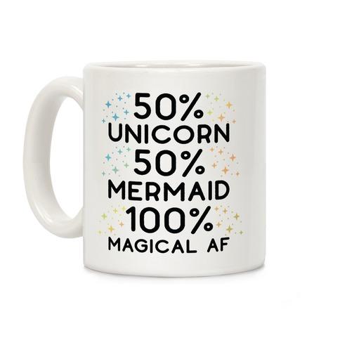 50% Unicorn 50% Mermaid Coffee Mug