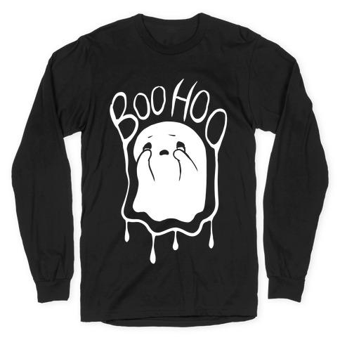 Boo Hoo Sad Ghost Long Sleeve T-Shirt