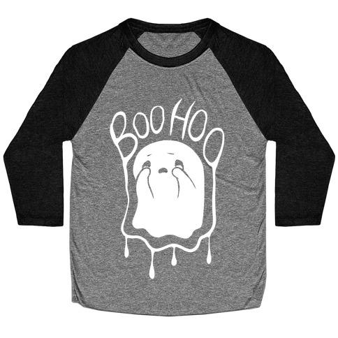 Boo Hoo Sad Ghost Baseball Tee