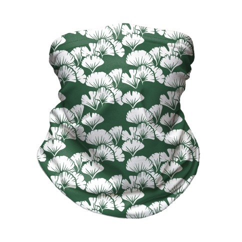Ginkgo Leaf Green Pattern Neck Gaiter