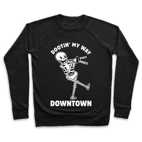 Dootn' My Way Down Town White Pullover