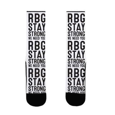 RBG Stay Strong! Sock