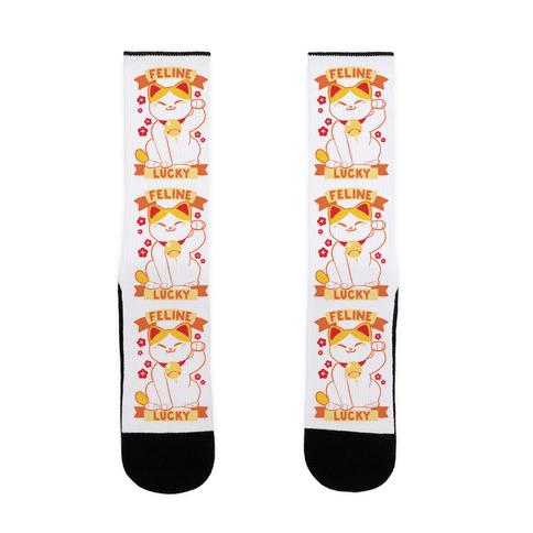 Feline Lucky - Maneki Neko Sock